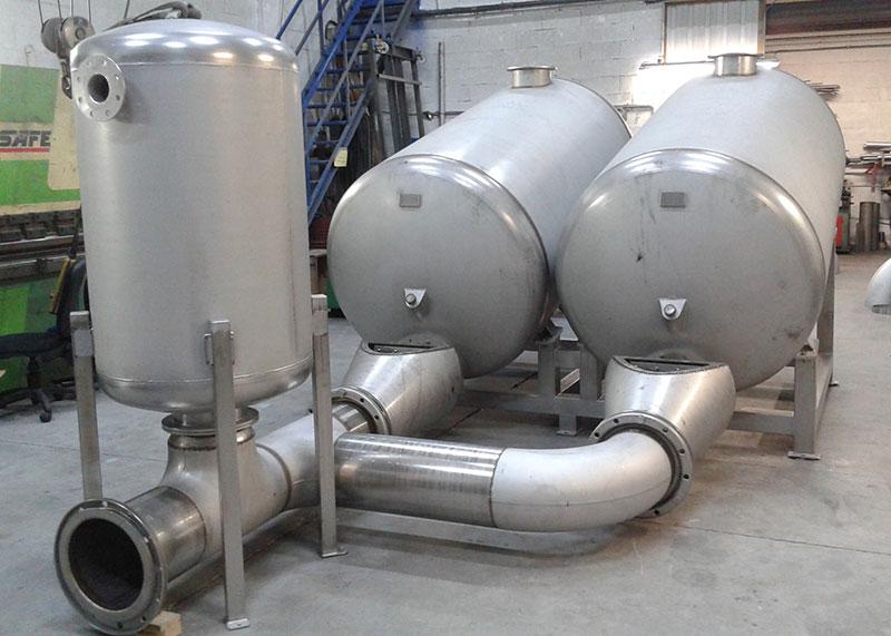 Conjunto de tanques | Trabajos en acero inoxidable a medida industria alimentaria | ITM INOX