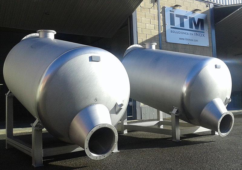 Tanque doble de 1000 litros | Trabajos en acero inoxidable a medida industria alimentaria | ITM INOX