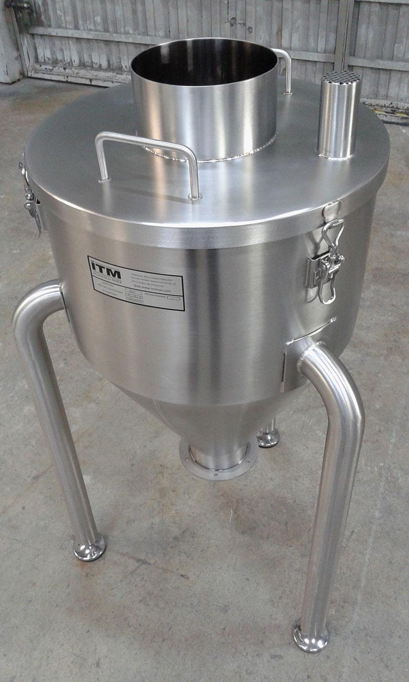 Tolva de 100 litros | Trabajos en acero inoxidable a medida industria alimentaria | ITM INOX