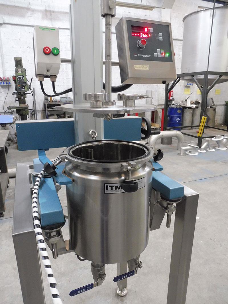 Reactor con disermat 12 litros | Trabajos en acero inoxidable a medida industria química y farmacéutica | ITM INOX