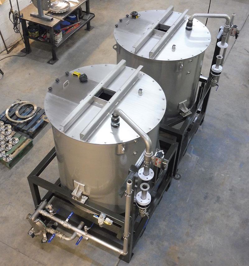 Tanque doble de 1500 litros | Trabajos en acero inoxidable a medida industria química y farmacéutica | ITM INOX