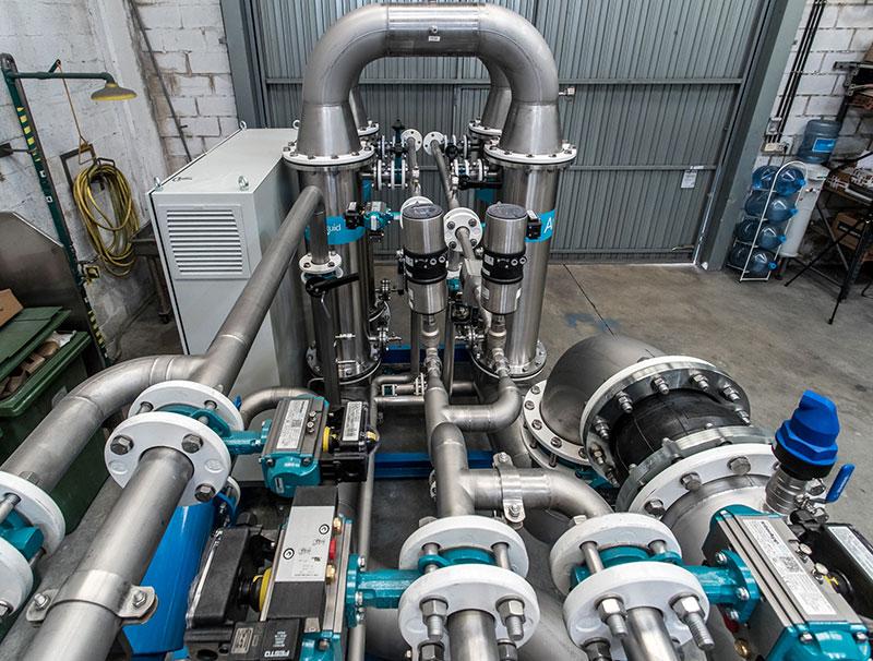 Planta depuradora de aguas compacta | Trabajos en acero inoxidable a medida para el tratamiento de aguas residuales | ITM INOX