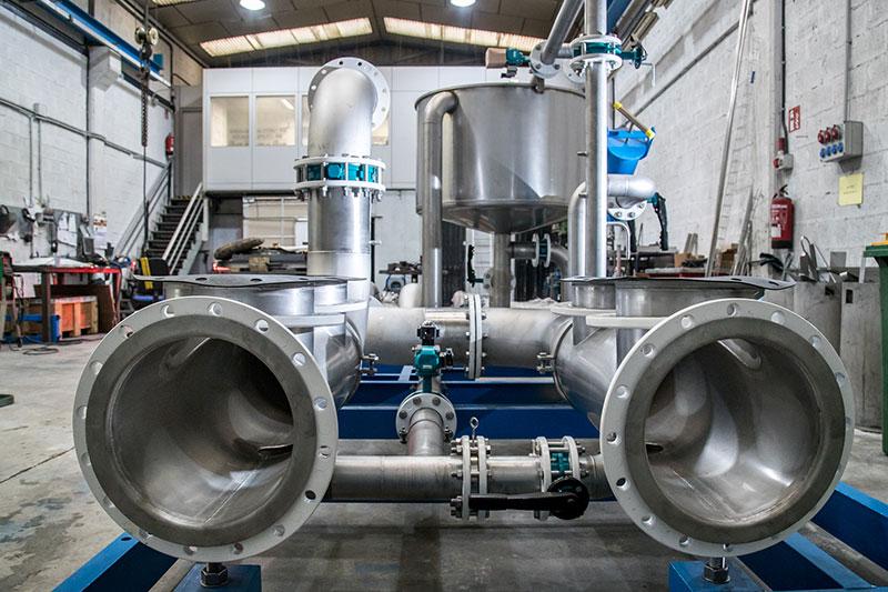 Colectores a medida | Trabajos en acero inoxidable a medida para el tratamiento de aguas residuales | ITM INOX
