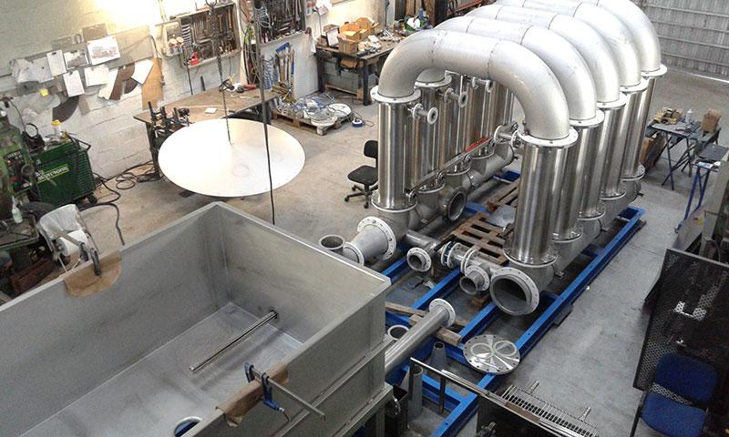 Trabajos de construcción de planta depuradora de aguas | Trabajos en acero inoxidable a medida para el tratamiento de aguas residuales | ITM INOX