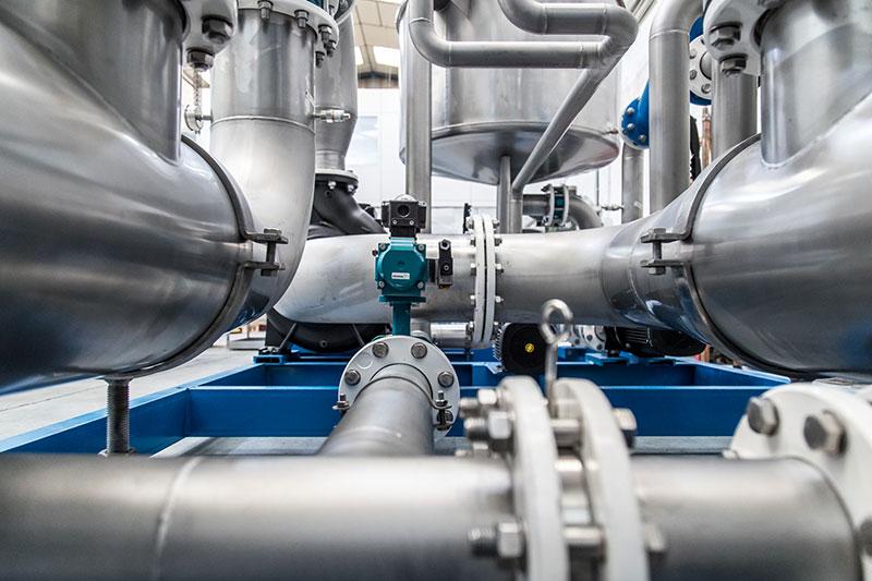Vista detalle de planta depuradora | Trabajos en acero inoxidable a medida para el tratamiento de aguas residuales | ITM INOX